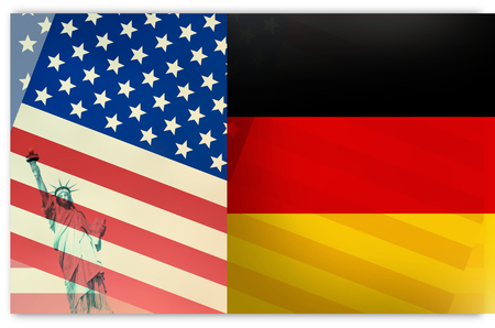 ambivalent: Germany USA Flag