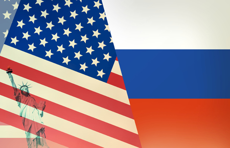 ambivalent: USA Russia Flag