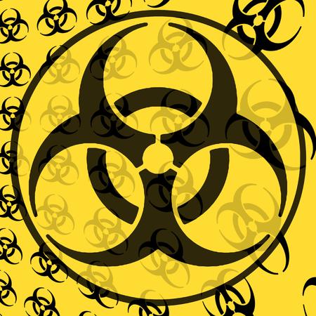 nuclear waste disposal: biohazard Stock Photo