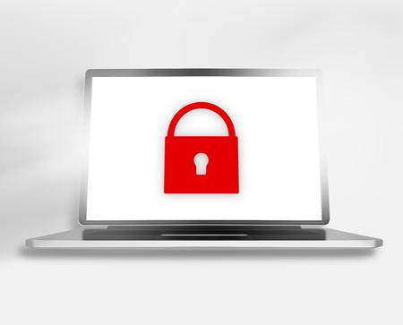 webhosting: Computer screen illustration
