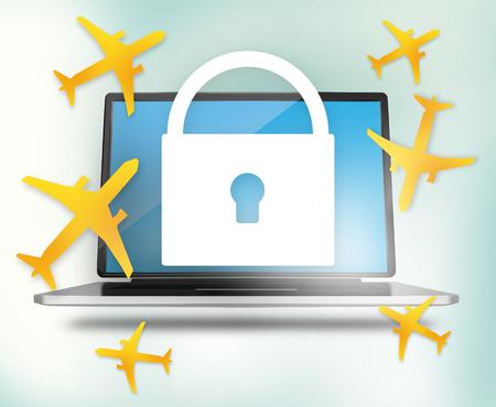 cian: Planes computer Stock Photo