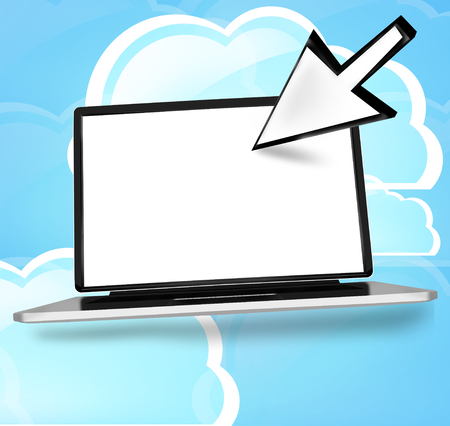 dynamically: Cloud Computing Stock Photo