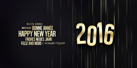 fonts year: 2016 Happy New Year