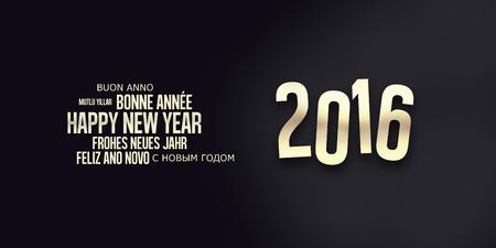 nowy rok: 2016 Szczęśliwego Nowego Roku