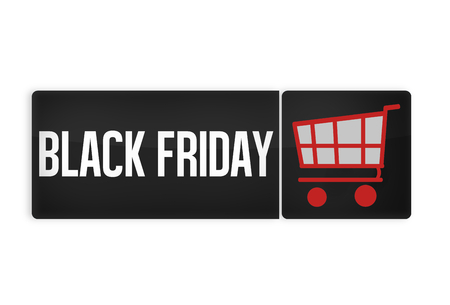 black button: Black Friday Black Button Stock Photo