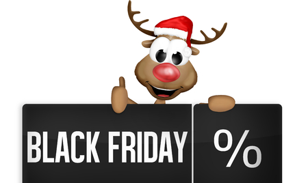 Black Friday Black Button Stock Photo