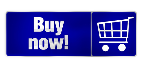 buy now: Buy now blue shopping cart