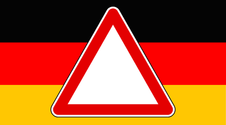 watch out: made in germany sign Stock Photo