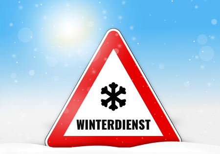 German Language Winterdienst for winter service
