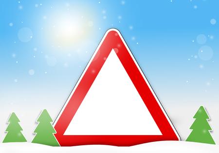 rood teken: winter red sign