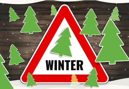 the motorists: winter fir red sign