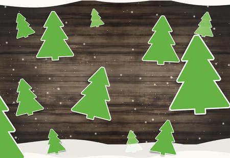 tannenbaum: christmas fir wood background