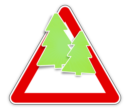 motorists: red sign christmas fir