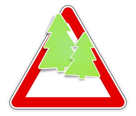 the motorists: red sign christmas fir