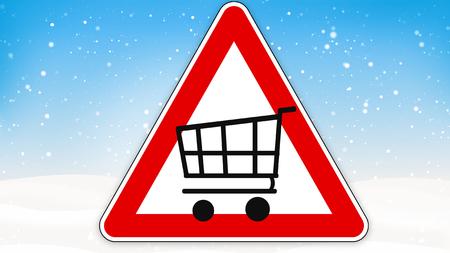 rood teken: red sign shopping cart