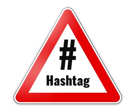 double cross: hashtag danger Sign