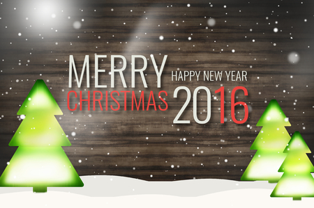 christmas graphic: Merry Christmas Happy New Year 2016