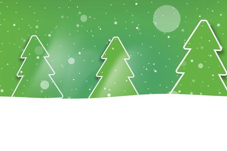 backdrop design: Christmas Green Trees Stock Photo
