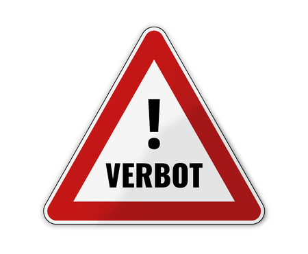 exceeded: german language for ban Stock Photo