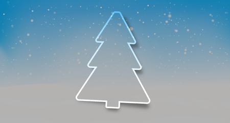 tannenbaum: Tree winter landscape snowflakes background