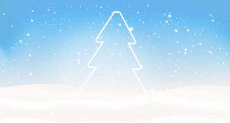 tannenbaum: Tree winter landscape snowflakes