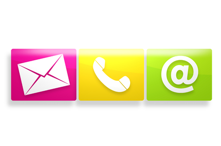 chat icons: contact us