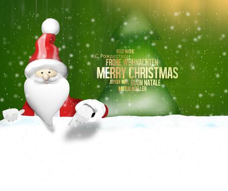flocon de neige: Christmas Santa Claus