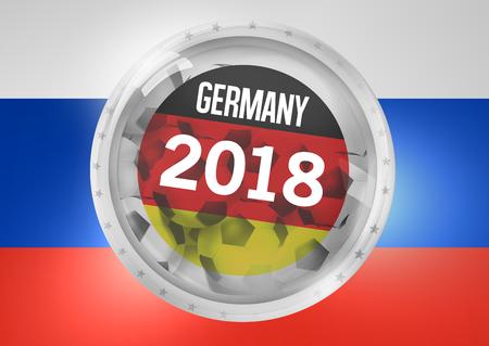 glass badge: Germany Football Icon Badge Glass