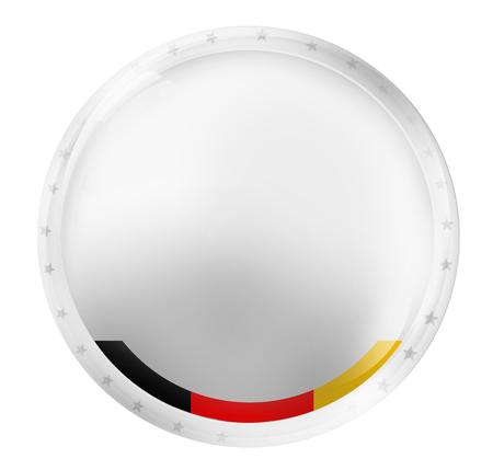 german ethnicity: blank white germany badge Stock Photo
