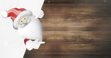 ad space: Christmas Santa Claus blank ad space background design