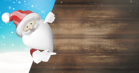 ad space: Santa Claus wood blank ad space