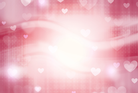valentine background: lovely hearts
