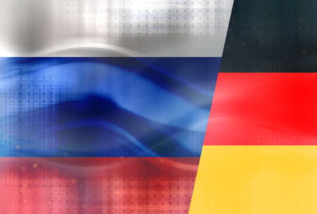 politically: Modern Russia Germany Flags