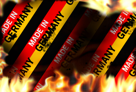 made in germany Fire flames burning background