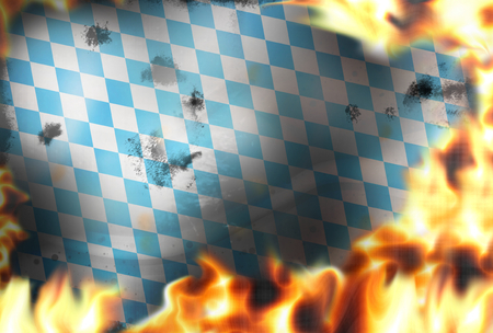debt collection: Bavaria fire flames burning background