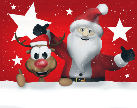 ad space: Merry Christmas Santa Claus