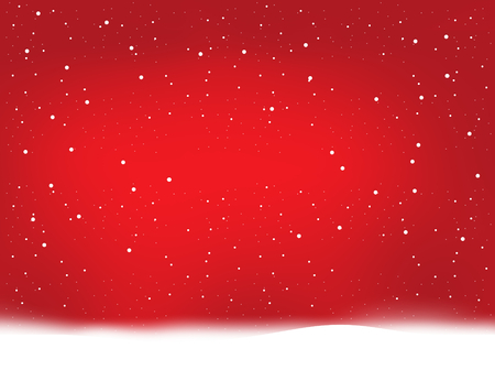 neige noel: flocons de neige rouges d'hiver