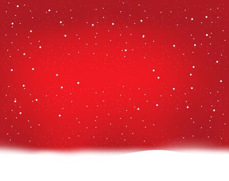 red winter snowflakes Stock Photo
