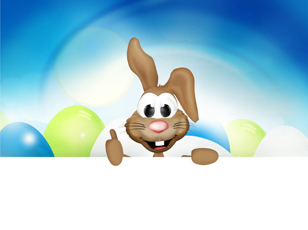 easter time: Happy Easter Bunny Easter Time Stock Photo