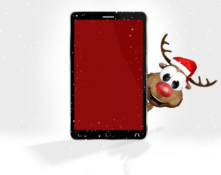 st  nicholas: Christmas Red Mobile Phone