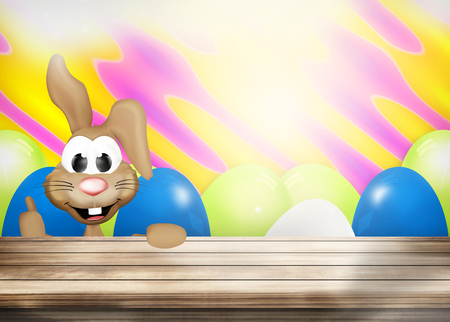 like it: Cute happy easter bunny Stock Photo