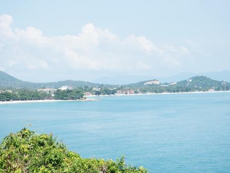koh samui: Thailand 2015 Koh Samui view point to chaweng beach Stock Photo