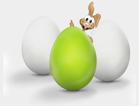 xxl: XXL easter eggs easter bunny Stock Photo