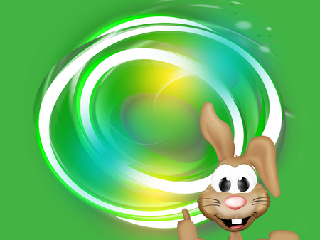 like it: green eco natural easter bunny Stock Photo