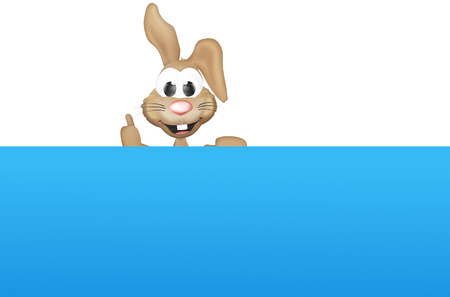 animal time: Easter Bunny Like Blue Board