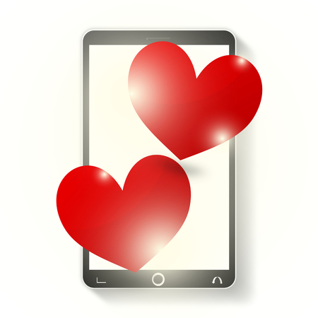out of engagement: Mobile Phone Two Hearts