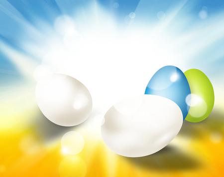 festive: festive easter eggs bright light Stock Photo