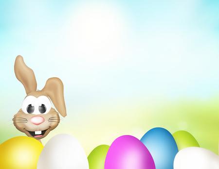 huevos de pascua: huevos de Pascua Pascua de tiempo Foto de archivo