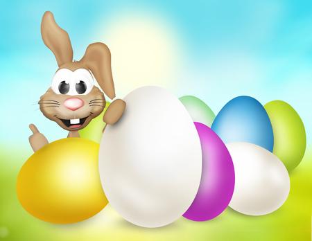 huevos de pascua: dise�o de conejo de Pascua fesive