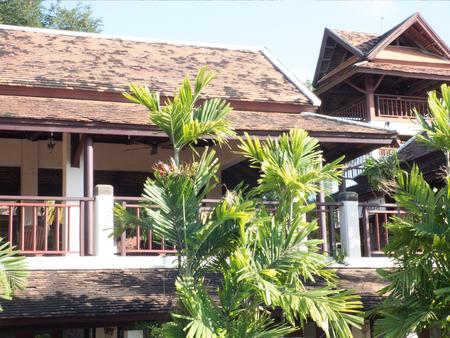 koh: Koh Samui a wooden Hotel Stock Photo